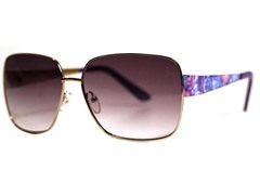 Dahlia Sunglasses, Silver/Purple