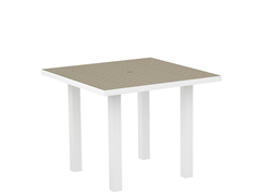 Euro Dining Table, White/Sand