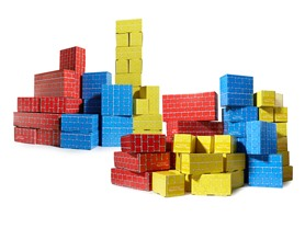 Melissa & Doug Deluxe Jumbo Cardboard Blocks 2-Pack