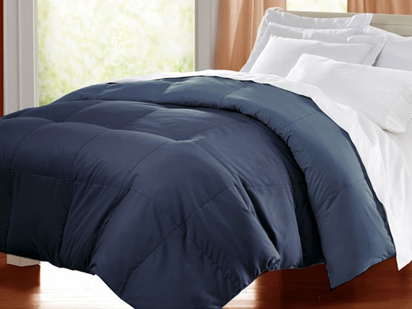 Egyptian Cotton Down Alternative Comforter Navy