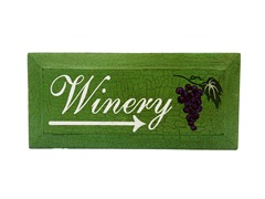 Distressed Wine Placecard