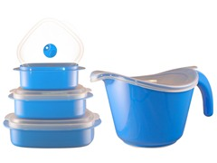 Batter Bowl, Lid & 6-Piece Set Azure