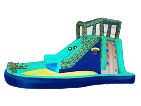 Wonderbounz Safari Splash Inflatable Slide w/ LED Game