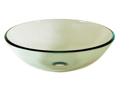 Round Glass Vessel Sink, Clear