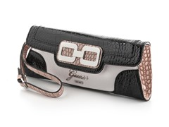 Guess Mikelle Mini Clutch Handbag, Black Multi