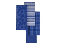 Basics Dishtowels-Set of 4-Blueberry