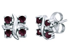 SS Rhodaline Garnet X Earrings
