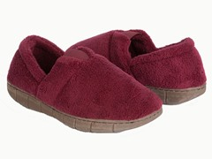 W's Petal Spiral Fleece Espadrille Slipper,Red