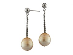 Sterling Silver Bead GSS Drop Earrings