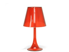 Simpla  Acrylic Table Lamp - Red
