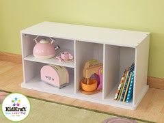Storage Unit with Shelves - White