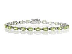 Sterling Silver & Peridot Bracelet