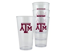 Texas A&M Plastic Pint Glasses 4-Pk