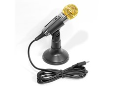 Black Vocal Condenser Computer Microphone