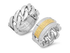 Men's Reversible Ring w/ Gold Key Accent
