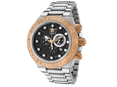 Subaqua 1529 Stainless, Rose Gold Bezel