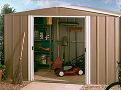 10' x 8' German Dresden Steel Storage Shed