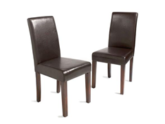 Pair Bi-Cast Parsons Chairs
