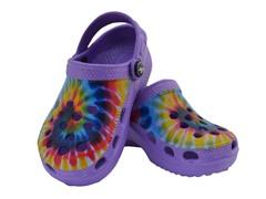 Purple Tie Dye Clog