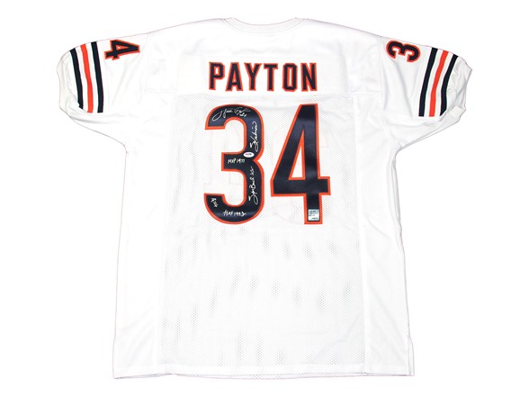 official photos 40fd2 f4b32 Walter Payton Signed White Jersey