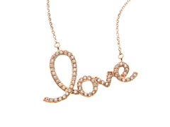 "18kt Rose Gold Plated ""LOVE"" Necklace"
