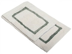 Border Bath Rug-Green-Set of 2