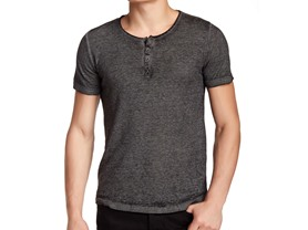 Burnout Henley - 3 Colors