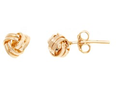 18k Plated 2-Row Love Knot Earring