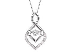 "ZKS Designs ""Dancing"" Diamond Rain Drop Shape Pendant"