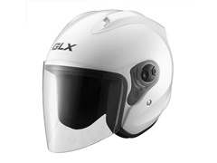 Open Face Motocycle Helmet - Pearl