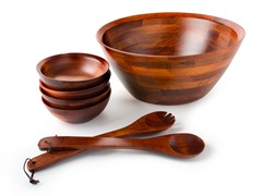 "30"" Standing Large Salad Bowl Set"