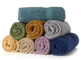MicroCotton 4pc Bath Towel Set-10 Colors