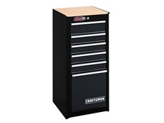 6-Drawer Ball Bearing Cabinet, Black