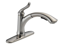 Linden Single Handle Kitchen Faucet, Stainless