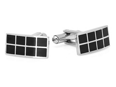 Stainless Steel Cufflink w/ Black IP Box