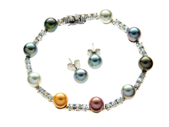 Multicolor Bracelet & Earring Set