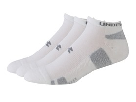 UA Men's HeatGear No Show, 3 Pairs (2 Colors)