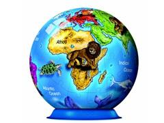 72-Piece World Globe 3-D Puzzle Ball
