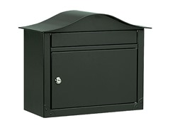 Locking Lunada Wall Mailbox, Black