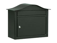 Locking Lunada Wall Mailbox, Black