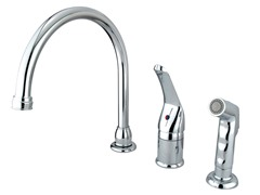 Kitchen Faucet with Sprayer, Chrome