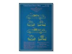 "Blueprints Batmobile Poster 18"" x 24"""