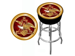 Budweiser A & Eagle Padded Bar Stool