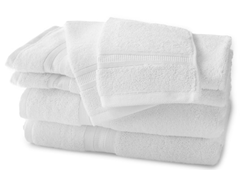 MicroCotton 6-Piece Towel Set - White