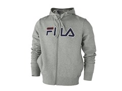 Fila Men's Fleece Zip-Up Hoody Grey S EU