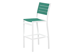 Euro Bar Chair, White/Aruba