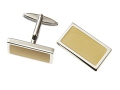 Sterling Silver Square Cufflinks, White