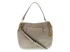 Michael Kors Bedford Large Shoulder Bag, White