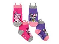 2-Pk Socks - Kitty & Mouse