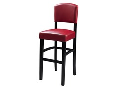 Monaco Stool - Dark Red (2 Sizes)